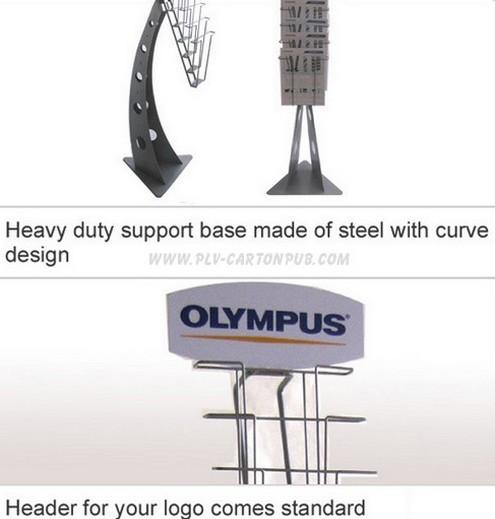 Plv présentoirs métalliques