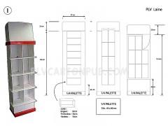 Plv carton - présentoirs colonne de sol - présentoirs de sol