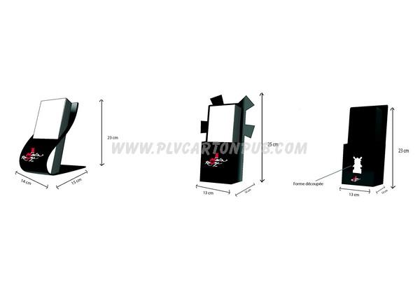 chevalet carton - modèle avec distributeur - différentes variantes