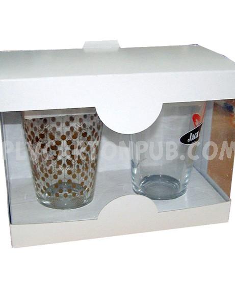 boîte carton : emballage verres à boire promotionnels