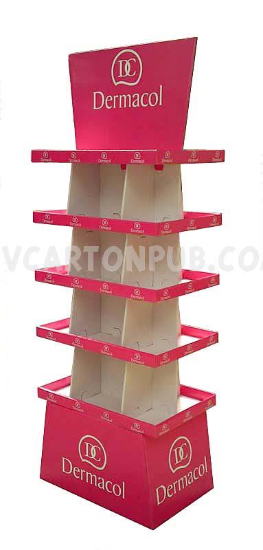 publicité carton - présentoir de sol ou colonne avec distributeurs en carton