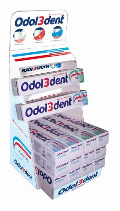 présentoir pharmacie - distributeur en carton de dentifrice