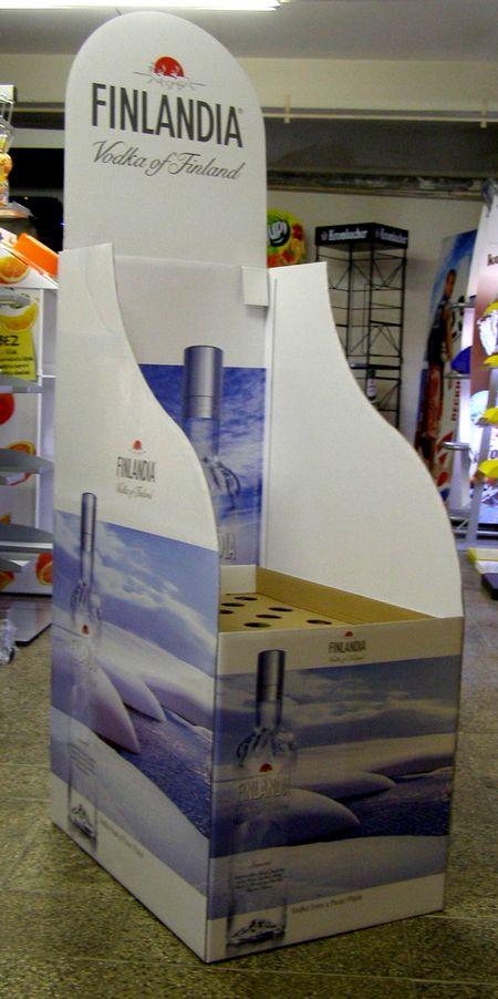 présentoir colonne - présentoir de sol avec emplacements pour produits