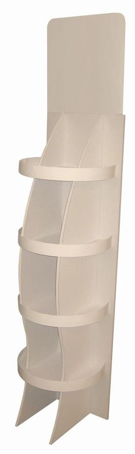 carton plv - présentoir en carton de sol non imprimé avec fronton