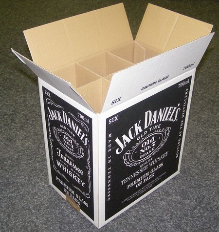 carton plv - emballage pour transport de bouteilles